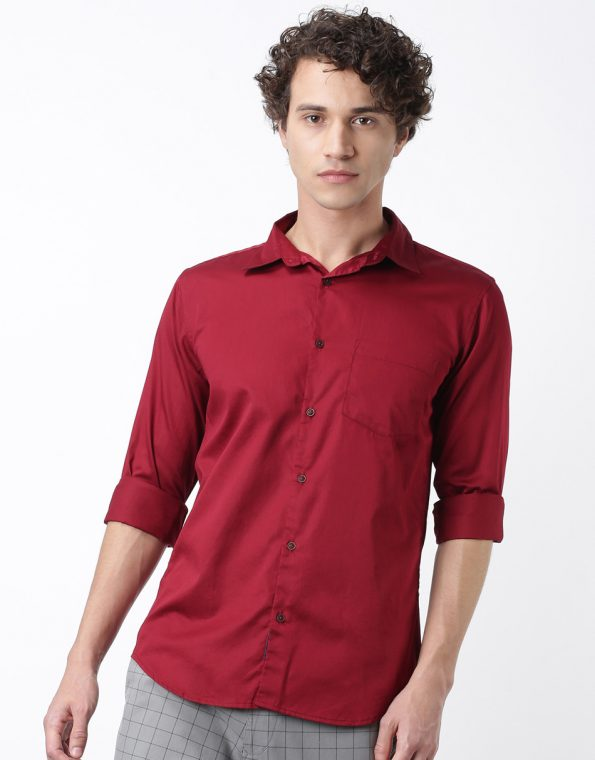 Ruby Red Giza Cotton Casual