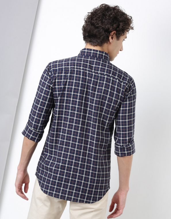 Red and White Criss Cross Checked Shirt